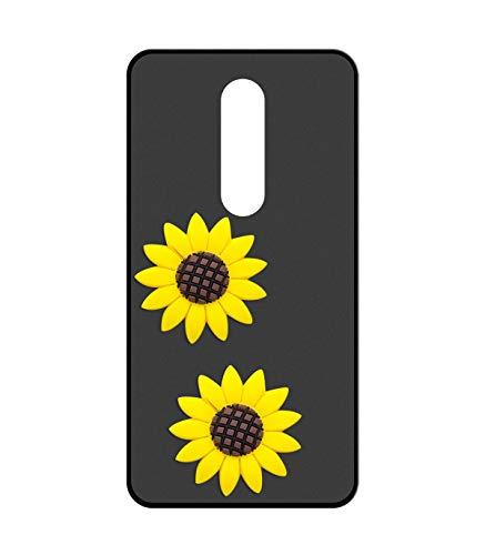 Sunrive Für ZTE Nubia Z11 Max Hülle Silikon, Handyhülle matt Schutzhülle Etui 3D Hülle Backcover für ZTE Nubia Z11 Max(W2 Gelbe Sonnenblume) MEHRWEG+Gratis Universal Eingabestift