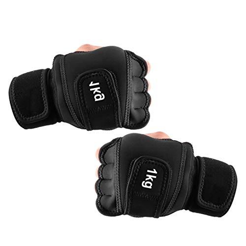UMXOSM Guantes con peso de 2 kg (1 kg cada uno), guantes de hierro suave para saco de arena, guantes de entrenamiento con soporte para muñeca para gimnasio y boxeo