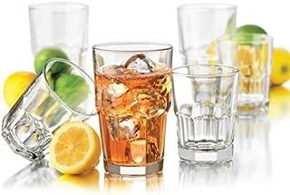 Libbey 16-Piece Boston Drinkware Set, 16 oz glass coolers,9.8 oz glass DOFs (1)