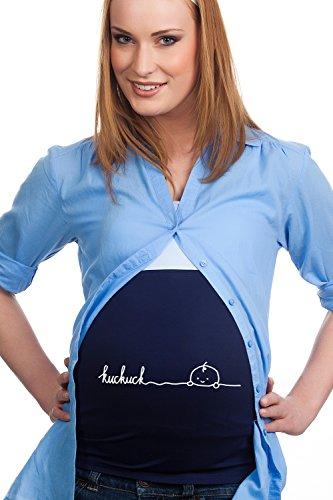Bandeau de grossesse avec inscription « Kuckuck » - Bleu - 40/44