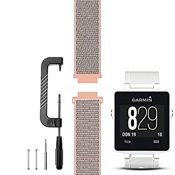 C2D JOY Compatible with Garmin vivoactive Band Replacement  Pins and Pin Removal Tool  Sport Mesh Strap for Outdoor Accessories vivoactive  1st Generation  Nylon Weave Watchband - 12# M/4.7-7.7 in.
