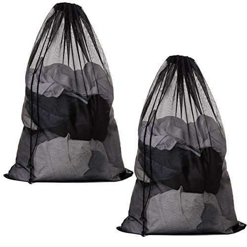Meowoo Large Mesh Laundry Bag with Drawstring,Large Laundry Bags for...