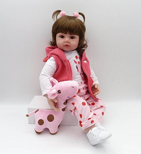 18'' Lifelike Reborn Baby Dolls Girls Silicone Realistic Toddler boy That Look Real Eyes Open Live Babies Kids Cheap (Lily)