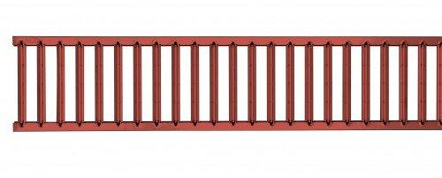 ACO Self® Stegrost 500mm Terracotta pulverbeschichtet Stahl verzinkt - Für ACO Euroline Rinne   Hexaline Rinne   Highline Rinne