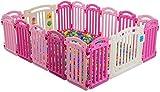 WBXNB Parque bebés Vallado para bebés Cierre de protección Grid Kid Zona de Juegos Toddler Crawl Mat Alfombra Chimenea Parque Infantil (Bolas y esteras no Incluidas),110x150cm