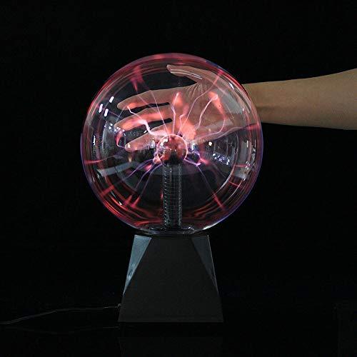 Hangrow Bola de plasma sensible al tacto USB, bola de electricidad estática, bola de rayos electrostática, lámpara Tesla, bola de cristal mágica, regalos de cumpleaños para niños, control de sonido