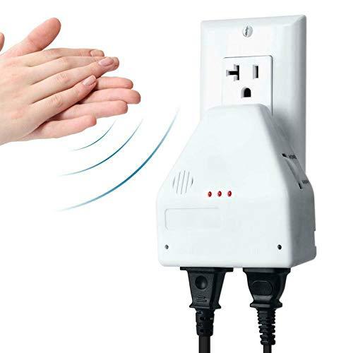 Clapper Sound Activated Switch EIN/Aus Handklatschen Elektronisches Licht 110 V Die Klöppel-Sound aktiviert Schalter Universal Sound Activated Switch für Küche/Schlafzimmer/TV/Geräte