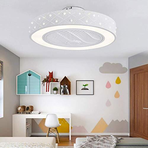 Plafondventilator met lamp, plafondventilatoren Stil met LED-verlichting en dimbare afstandsbediening, 36W plafondlamp voor kinderkamerverlichting restaurantverlichting