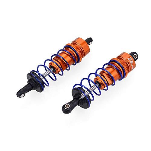 LYYCEU 2 unids 7358 Aleación Aleación Llena Figura Figura Amortiguador Amortiguador Amortiguador para 1/10 HSP REDCAT HONGNOR LRP HPI HABAO Utilidad (Color : Orange)