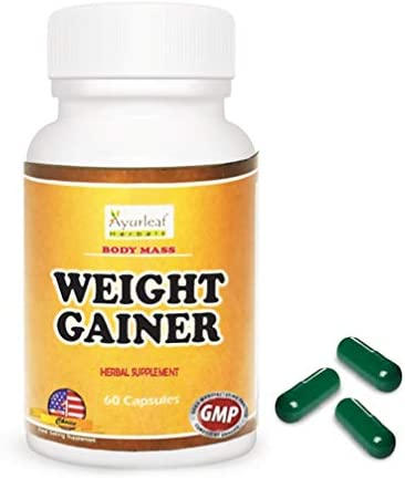 Ayurleaf Weight Gainer - Weight Gain Formula Men or Women. Gain Weight Pills (60) Tablets. Appetite Enhancer. Fast Weight Gainer. Skinny People gain Curves or Body Mass. (2) Bottles