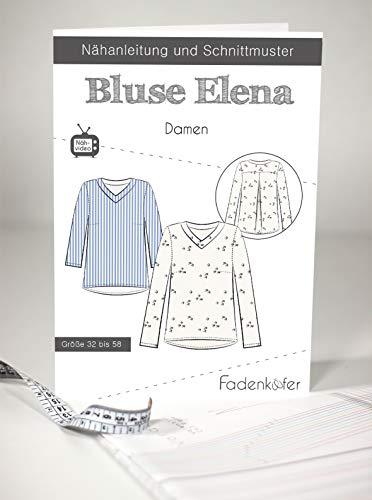 Fadenkäfer Papierschnittmuster Bluse Elena Damen