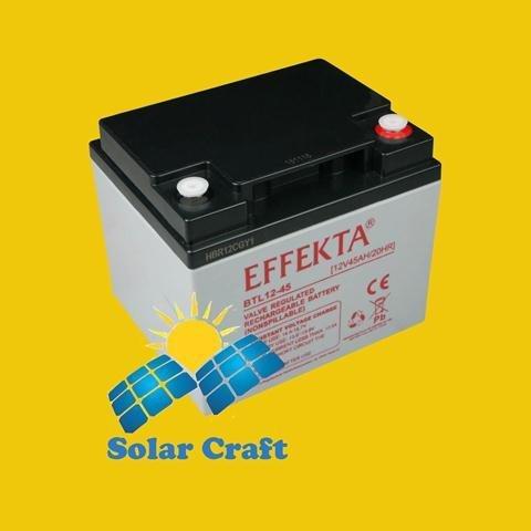 Gel-Akku 12V 45Ah AGM Solarpanel Ladegerät Energie photoviltaique