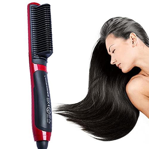 Peine Plancha De Pelo Plancha De Pelo Lacio Eléctrico Peine De Vapor Plancha De Barba Caliente Cepillo Estilizador Herramientas De Peinado Para Mujeres