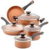 Farberware Glide CopperSlide Ceramic Nonstick 12 Piece Cookware Set (Copper)