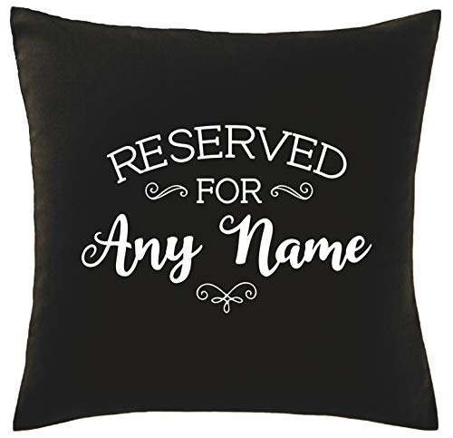 Hippowarehouse PERSONALISED reserved for any name Printed bedroom accessory cushion cover case 41x41cm