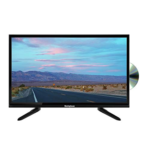 """Westinghouse 24"""" Inch 720p LED TV with Built-In DVD HDMI and USB PVR and Satellite Tuner - Black"""