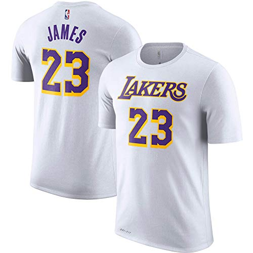Outerstuff Lebron James Los Angeles Lakers #23 White Youth Player Name & Number T-Shirt (10-12)