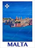 shuimanjinshan Leinwand Malerei Reise Poster Valletta Malta