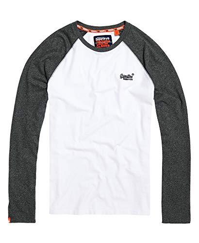Superdry Orange Label Baseball Long Sleeve T-Shirt XX Large Optic