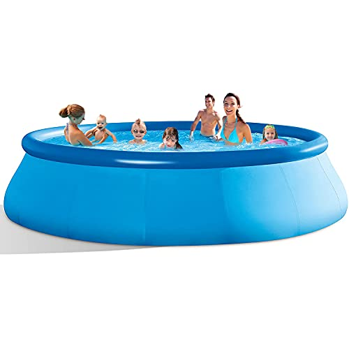 Above Ground Swimming Pool For Adults - 10 Ft x 30 In Inflatable Pool Swimming pools for backyard Outdoor Garden Patio, Kids Family Summer Water Pool Party