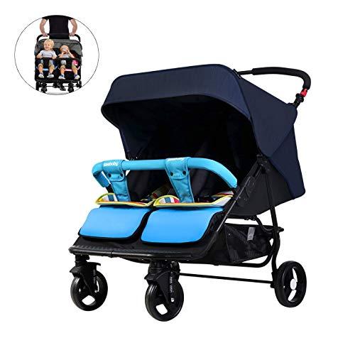 BOROAO 3 in een Twin kinderwagen kan zitten of liggen gescheiden lichtgewicht vouwen Suspension twee dubbele baby kinderwagen