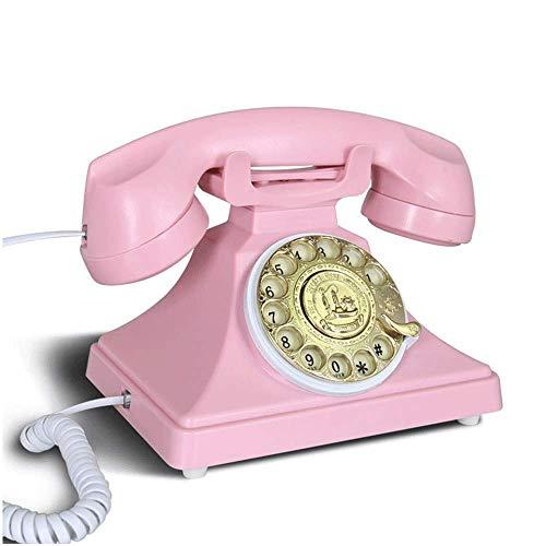 Teléfono de línea fija retro para la escuela de hogar y el teléfono retro del paisaje de la oficina con cordón, Adecuado para el hogar, i Retro clásico Teléfono de escritorio, con pantalla LED Pantall
