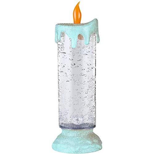 iSpchen Vela LED con Brillo Que Cambia de Color, Vela de Navidad, Vela de Luz LED Brillante, decoración Navideña de Ventana