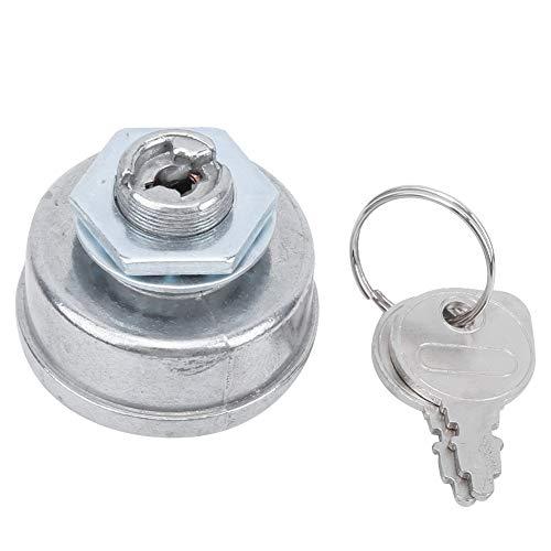 RiToEasysports Arrancador de Encendido para cortacésped, Interruptor de Arranque de 5 Pines con Pieza de Repuesto de Llaves Apto para Material de Aluminio AM102551