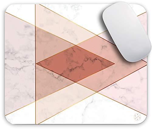 Oriday Cojín de ratón para Juegos Personalizados para el hogar y la Oficina, diseño Moderno para Las Mujeres Antideslizante de Goma (triángulo de mármol) 9.5
