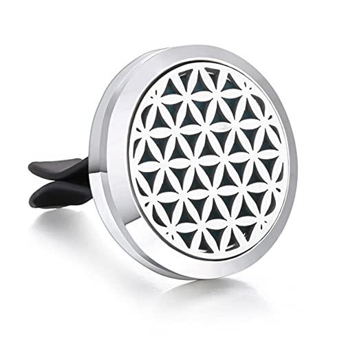 Collar de aromaterapia difusor colgante medallón abierto difusor de aceite esencial ambientador de coche Clip de coche difusor de perfume joyería