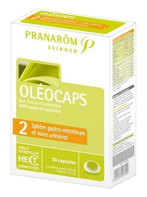 Oleocaps No. 2 - Gastro Intestinal and Urinary Tract by Pranarom by Pranarom