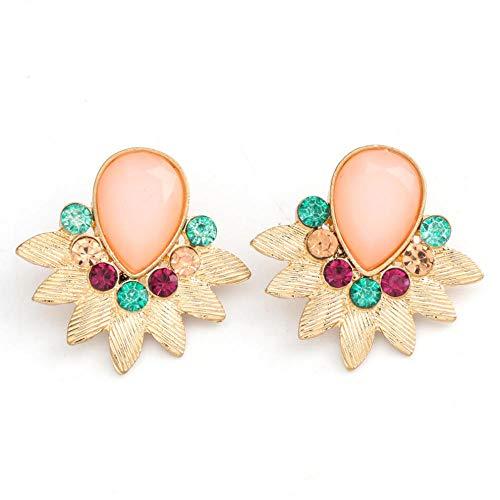 Vvff Pendientes De Botón De Diamantes De Imitación De Metal Pendientes Elegantes Y Bonitos De Accesorios De Joyería Para Mujer