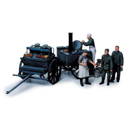 TAMIYA 300035247 - 1:35 Diorama-Set Feldküche, 4 Figuren