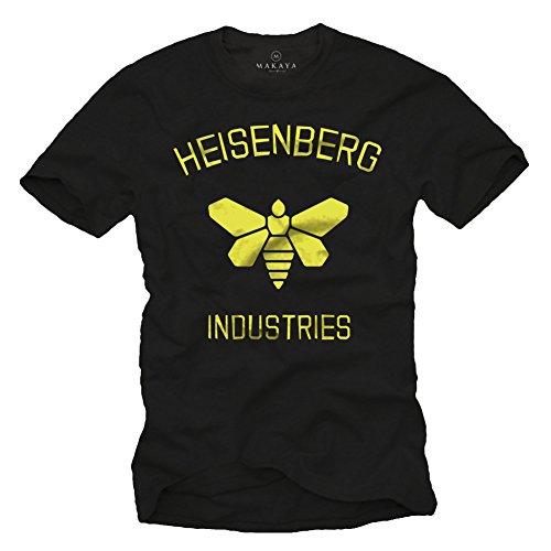 Maglietta Breaking Bad - T-Shirt Heisenberg Industries Uomo Nera L