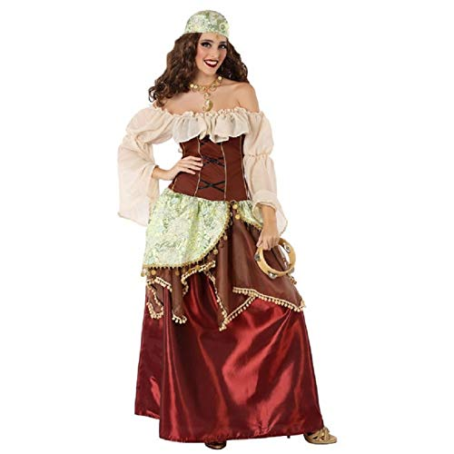 Atosa-61562 Atosa-61562-Disfraz Gitana-Adulto Mujer, Color marrn, XS a S (61562 , color/modelo surtido