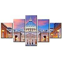 キャンバスの家の装飾5ピースのモスクの城の絵画のリビングルームのHDプリント フレーム取り付け
