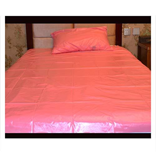FQLZ Erwachsene Spiele für Paare Sex Sex Bettwäsche Blatt Ölfestes Spa-Matratze Bettbezug Leidenschaft liefert Paar Liebesspiele Spielen Verbessern Glück cool Pink1.5m*2m