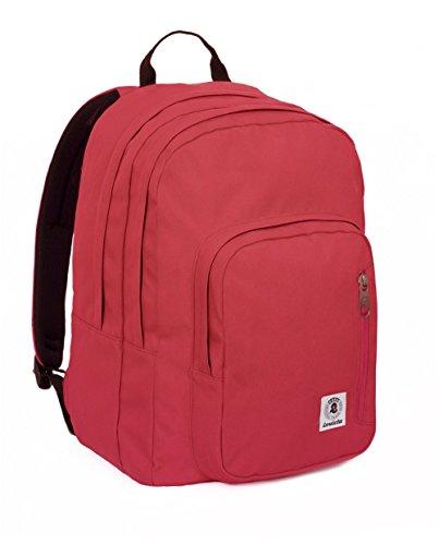 ZAINO INVICTA - FLIP - Rosso - tasca porta pc e Tablet padded - americano 38 LT