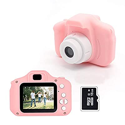 Kids Digital Camera,Mini Camera with 2.0 inch Screen for Children Birthday Gift,Children Cameras Toy Kid Action Camera Toddler Video Recorder 1080P for Boys Girls Age 3-12 by MERLINAE