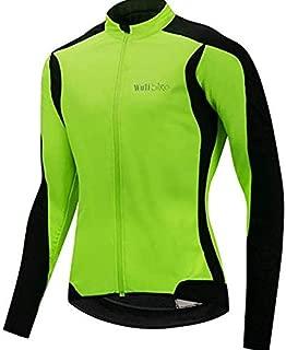 Men's Winter Cycling Jackets Warm Thermal Fleece Softshell Coat Water-Repellent Windproof