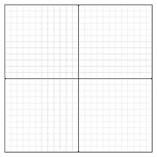 Geyer Instructional Products 502895 Static Cling Grid, Coordinate Plane