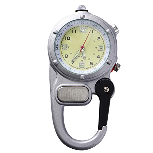 NICERIO Montre avec Mousqueton - Quartz Watch Clip on Mousqueton Fob Montre pour Infirmières Et Médecins avec ULM pour Escalade en Extérieur Alpinisme