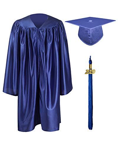 GraduationMall Lucente Laurea Cappello e Abito per Bambini Unisex - 12 Colori