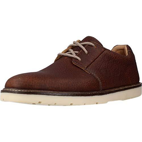 Clarks Grandin Plain, Zapatos de Cordones Derby para Hombre, Marrón (Tan Leather Tan Leather), 43 EU