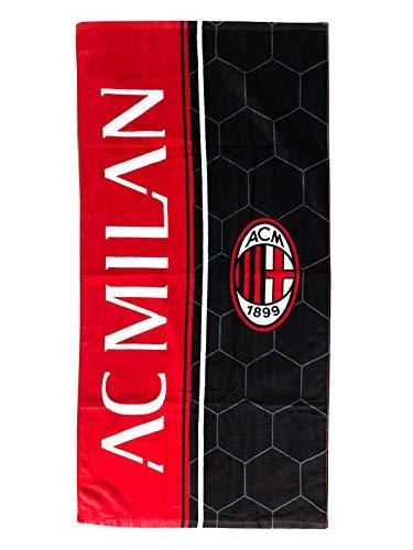 A.C. MILAN telo mare, rosso-nero, 70x140