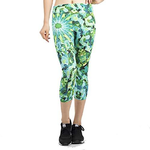 DSCX Leggings Femminili Moda Sport Fitness Leggings da Corsa Pantaloni Yoga Elasticizzati Indossare Ogni Giorno Verde M