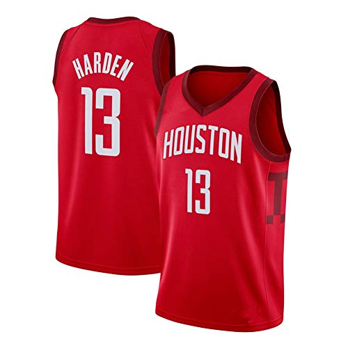 DIWEI Herren Basketball Jersey-Houston Rockets #13 James Harden, Street Retro T-Shirt Sommer Stickerei Tops Junge Swingman Basketball Kostüm Geburtstagsgeschenk (S-3XL) Gr. S (165/170 cm), rot