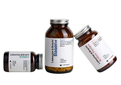 Liebscher & Bracht Premium Nahrungsergänzungsmittel 3er-Kombi: 1x Vital+ / 1x Arthro Forte+ / 1x Basen+ für 2 Monate, vegan, lactose- & glutenfrei, laborgeprüft