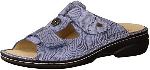 Finn Comfort Pattaya Ciel, Hellblau - Pantolette mit Loser Einlage- Damenschuhe Pantolette/Zehentrenner, Blau