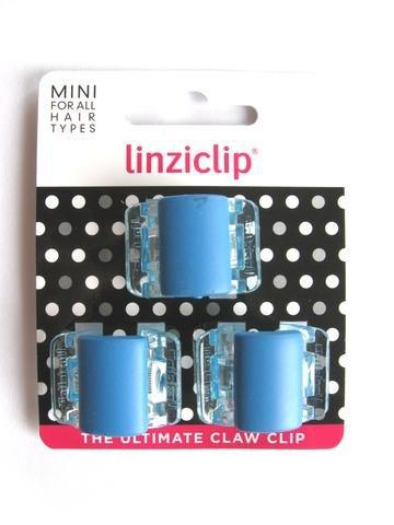 Linziclip Mini The Ultimate Claw Clip 3 Pack Matt Blue/Clear Wings